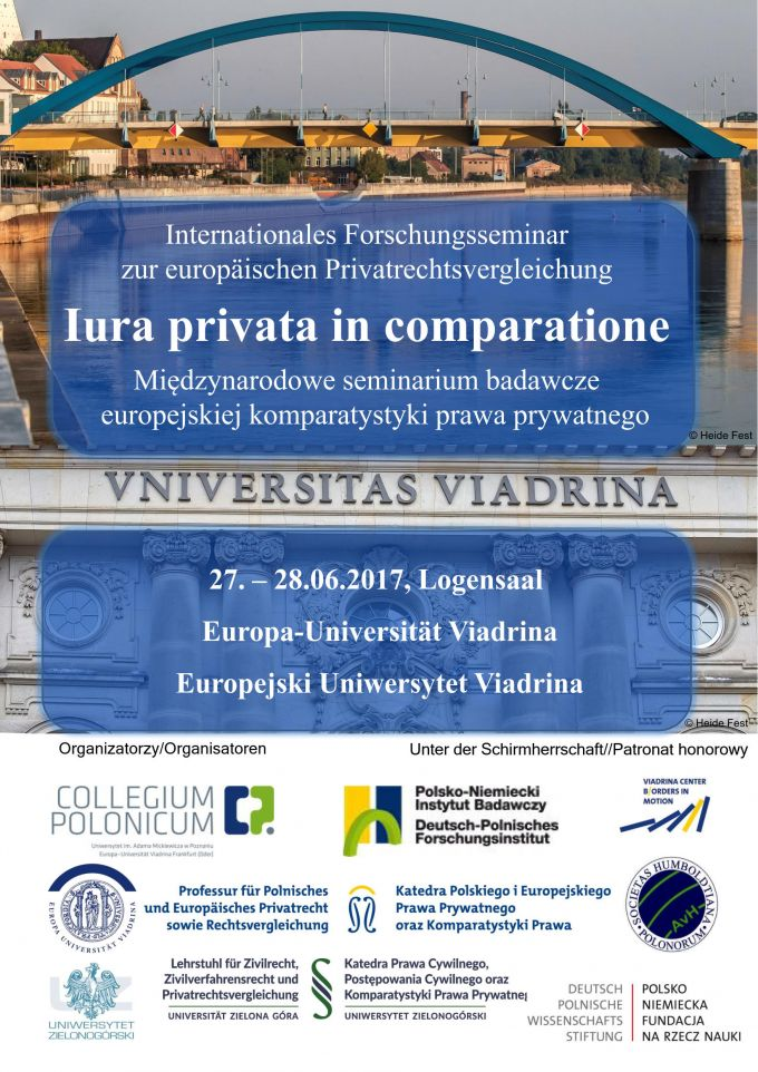 Internationales Forschungsseminar Iura privata in comparatione POSTER 1